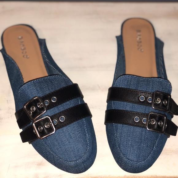 BAMBOO Shoes - BAMBOO | SLIP ON DENIM MULES